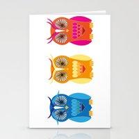Sad, Happy, Angry Stationery Cards