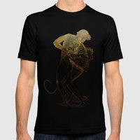 Hercules and The Nemean Lion Mens Fitted Tee Black SMALL