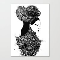 She`s a lady Canvas Print