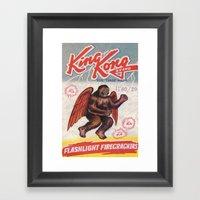 King Kong - Firecrackers Framed Art Print