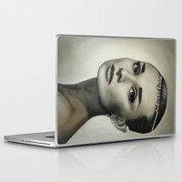 audrey hepburn Laptop & iPad Skins featuring Audrey Hepburn by Claire Lee Art