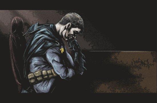 Brooding Batcave Art Print