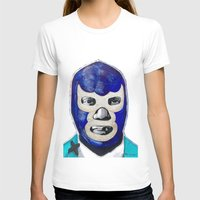 Blue Demon Womens Fitted Tee White SMALL