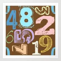Numberology Art Print