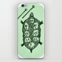 Turtle On Green iPhone & iPod Skin