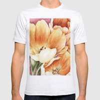 Tulips Mens Fitted Tee Ash Grey SMALL