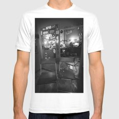 backstage White SMALL Mens Fitted Tee