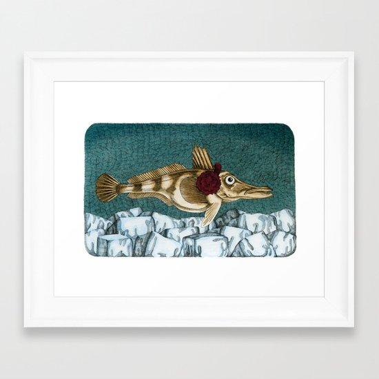The Ice Fish Cometh Framed Art Print