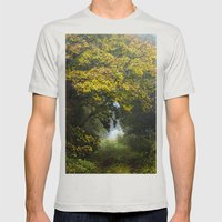 An Autumn  Lane Mens Fitted Tee Silver SMALL