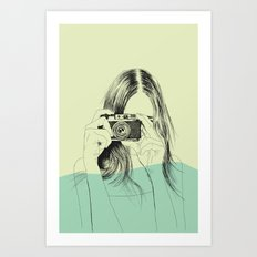 Woman Color 11 Art Print