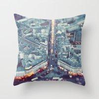 Paris, City of Lights. Throw Pillow