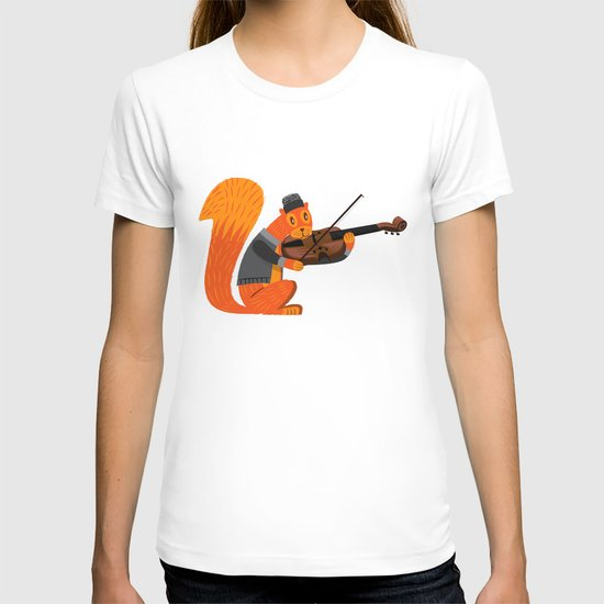 Red Squirrel Serenade T-shirt