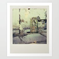 Abandoned Amusement Park… Art Print