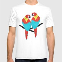 Cuban Macaw. Mens Fitted Tee White SMALL