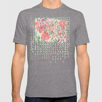Raindrops on Roses Mens Fitted Tee Tri-Grey SMALL