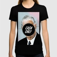 CA$H ONLY Womens Fitted Tee Black SMALL