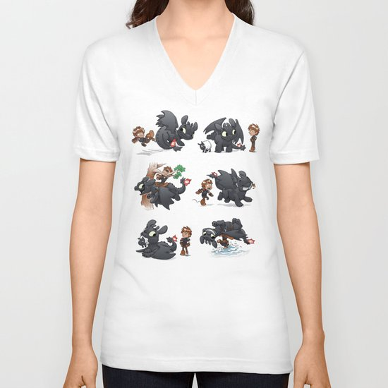 How Not to Train Your Dragon V-neck T-shirt