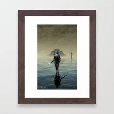 The hardest battle lies within (Blue Tunic / Shadow Variant) Framed Art Print