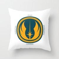 The Jedi Code Throw Pillow