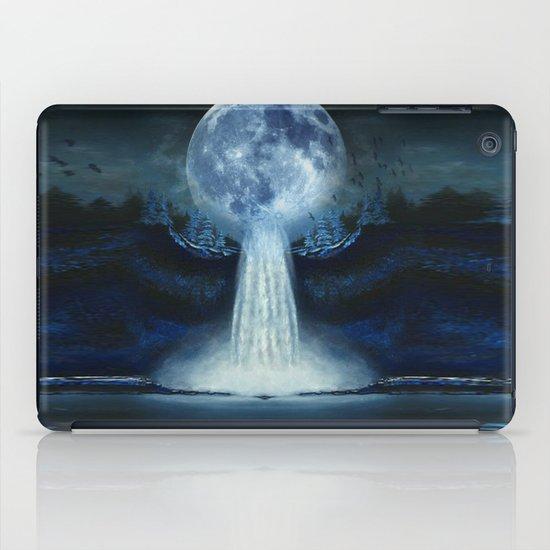 waterfall moon iPad Case