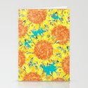 sunflower field Stationery Cards