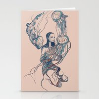jellyfish Stationery Cards featuring Jellyfish by Huebucket