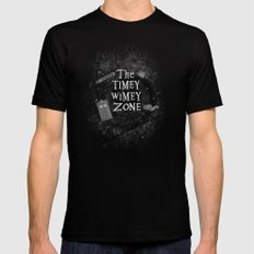 The Timey Wimey Zone Black Mens Fitted Tee SMALL