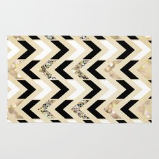 Black, White & Gold Glit… Rug