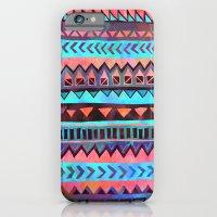 PATTERN {Tribal Stripe- Aqua} iPhone 6 Slim Case