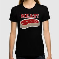 Meat! Womens Fitted Tee Black SMALL