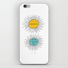 Happiness / Money would be nice too iPhone & iPod Skin