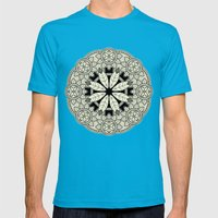 Mandala 3 Mens Fitted Tee Teal SMALL