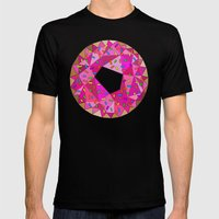 Never Enough Donuts Mens Fitted Tee Black SMALL