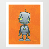 Silly Robot Art Print