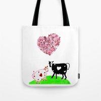 Romeo Bull N Juliet Cow Tote Bag
