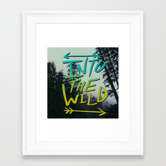 Into the Wild IV Framed Art Print