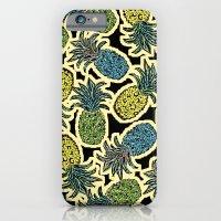 iPhone & iPod Case featuring Pineapple Pandemonium - Retro Tones by Lisa Argyropoulos