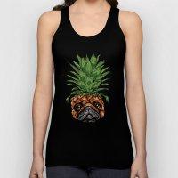 Pineapple Pug  Unisex Tank Top
