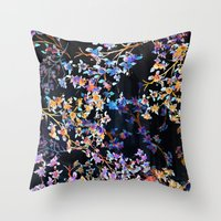 Spring Blossom Dark  Throw Pillow