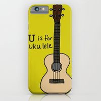 iPhone & iPod Case featuring U is for Ukulele by Illustrated by Jenny