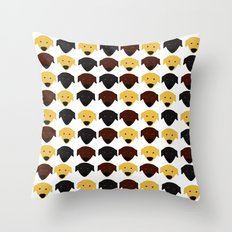 Labrador dog pattern Throw Pillow