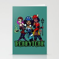 RonkyTonk Halloween Roller Derby Shirt Stationery Cards