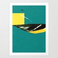 wing tear Art Print