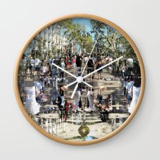 Summer space, smelting selves, simmer shimmers. 25 Wall Clock
