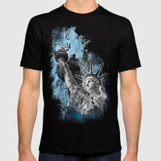 Lady Liberty Mens Fitted Tee Black SMALL