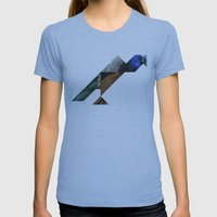 PEACOCK Womens Fitted Tee Athletic Blue SMALL