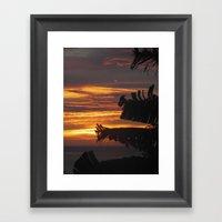 Caribbean Sunset III Framed Art Print