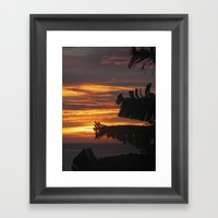 Caribbean Sunset III Framed Art Print