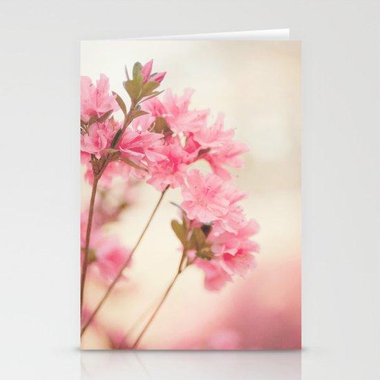 Pink Azaleas Stationery Card