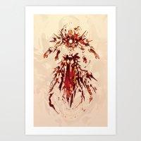 Iron God Art Print